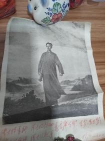 文革时期毛泽东照片,有林彪的亲笔题词