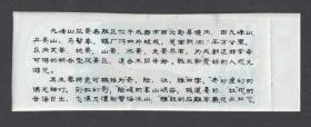 九峰山银厂沟塑料票,完整副券