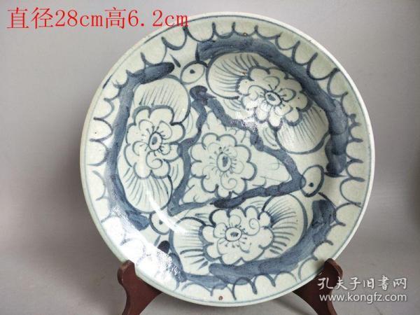 乡下收的清代青花瓷瓷盘