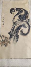 名家书画、手绘猴子