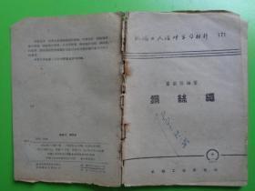 机械工人活页学习材料(171)《钢丝绳》【稀缺本】