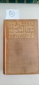 The hills of home烫金封面,书口和书底毛边,纸张较厚 含手工贴彩图 21.5*14cm