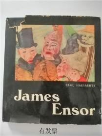 法文 James Ensor 詹姆斯恩索尔画册
