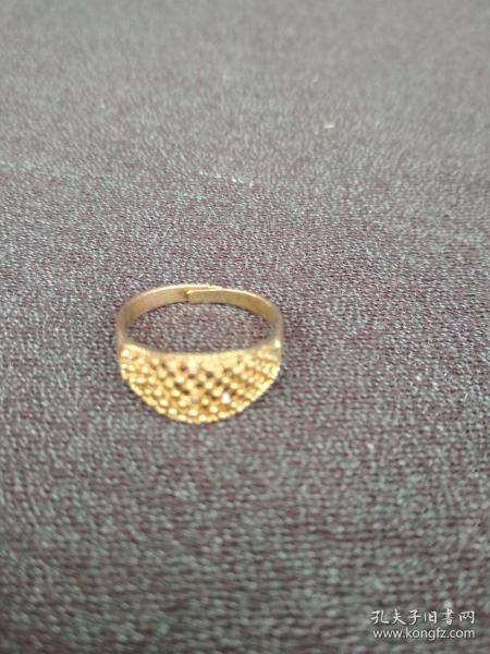 铜质鎏金戒指