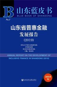 山东蓝皮书-----山东省普惠金融发展报告(2019)