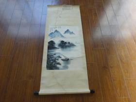佚名山水国画【尺寸137*53.5厘米(画心67*43.5厘米)】