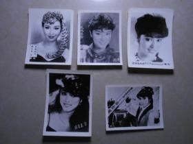 5张香港演员照片(3张米雪、一张杨盼盼、一张黄杏秀)合售