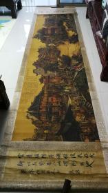 横幅巨制4m长卷画【南乡旧梦图】一幅