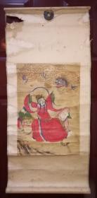 清末原裱佚名戏龙图,手绘,几百年了保老保真!