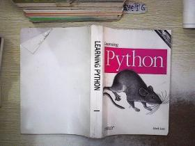 LEARNING PYTHON 1 学习PYTHON 1