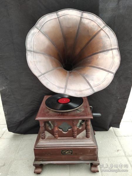 旧藏回流老式留声机 可正常使用 高95厘米长47厘米宽47厘米