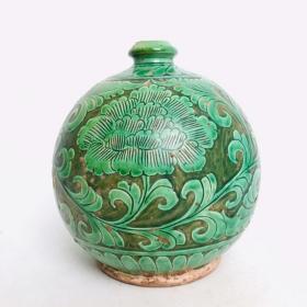 磁州窑花卉纹梅瓶