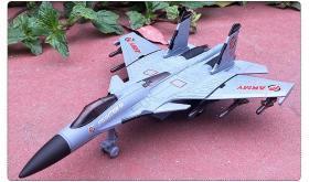 歼15模型声光回力玩具灰色