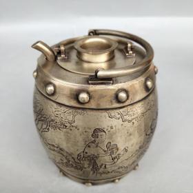 白铜温酒壶