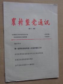 创刊号:农村整党通讯 1986年第1期