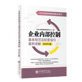 企业内部控制基本规范及配套指引案例讲解(2019年版)(原5719)