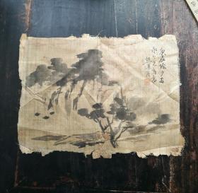 清举人熊遇周山水写意绢画