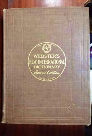 圣经纸本 美国原装辞典 有拇指索引 新韦氏国际英语大词典 第二版) webster\'s new international dictionary second edition unabridged