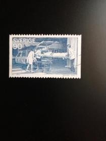 外国邮票  瑞典邮票 1975 警察的公共服务  雕刻版(信销票)