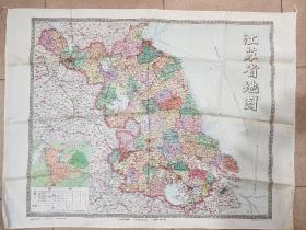 1983年江苏省地图——布的