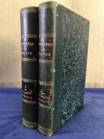 1840年《法国编年史》两卷全 含24幅手工彩色描线的铜版法国历史地图