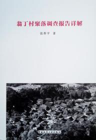 翁丁村聚落調查報告詳解