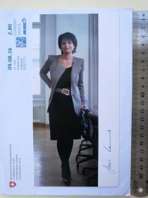 2次出任瑞士联邦主席、总统、国家元首(2010-2011和2017-2018)、瑞士历史上第三位女性国家元首、1934年以来瑞士最年轻的联邦主席、前副主席、副总统(2009-2010)、联邦经济部长(2006-2010)、环境、交通、能源和通信部长(2010-2019)、多丽丝·洛伊特哈德(Doris Leuthard)、亲笔签名、官方照片卡片1张(珍贵、罕见)