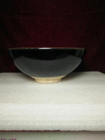 元代黒釉天目瓷大碗