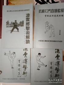 凌云搏击术4册合售附盘 刘亚林著