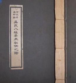 河北省孟村镇吴氏八极拳术秘诀之谱 127面 高仿宣纸本