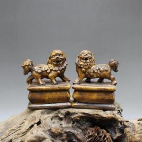 一对价格,年代不详自,高10.1厘米 长7.5厘米 底宽5仿宋地方窑雕刻狮子印一对下周恢复300起,瓷器一件,市价很贵,