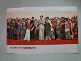 文革小宣传画《毛主席的革命文艺路线胜利万岁》32开大小