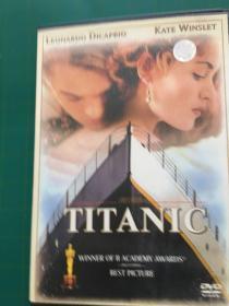 电影DVD 《泰坦尼克号》又名:铁达尼号 莱昂纳多.迪卡普里奥、凯特.温斯莱特主演 带盒
