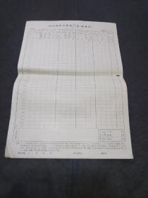 邮电史料文献:79年国内邮件交换量记录汇总表(8开空白)