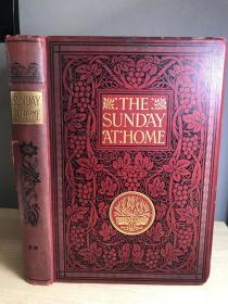 1907年英文古董书   THE SUNDAY AT HOME 藏书票