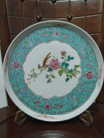 27CM完整中国景德镇瓷器摆件粉彩景德镇 70年代精美品