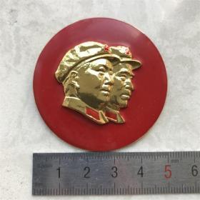 红色纪念收藏文革时期毛主席林彪像章胸针徽章包老物件正品毛林