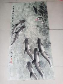 河北著名画家张连珠作品8平尺保真