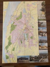 马鞍山交通游览图    老旧城地图