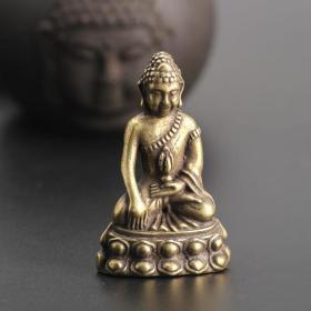 铜铜佛像摆件高5.2厘米