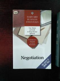 HARVARD BUSINESS ESSENTIALS NEGOTIATION:Your Mentor and Guide to Doing Business Effectively