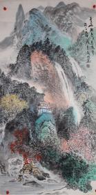 安徽省美协会员吗,中国书画家协会会员,一级美术师李老师四尺作品保真纯手绘