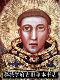大开本/布面精装/彩色、黑白插图本《圣·方济各·迪·阿西西及其欧洲艺术中的他》,包括60幅乔托(GIOTTO)所画圣方济各的绘画 FRANZ VON ASSISI