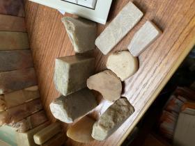 各种小石头,可以刻章的料9个