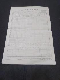 邮电史料文献:九十年代国内电报交换量、质量记录表(8开空白)