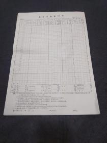 邮电史料文献:83年版邮件交换量记录汇总表(8开空白)