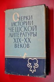 十九至二十世纪捷克文学史论文集 俄文原版 1963年版印 20开硬精装721页