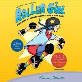纽伯瑞奖英语有声 Roller Girl 3张听的送文本(2016年)满300包邮