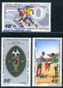 喀麦隆1972 足球 非洲杯足球赛 3全新