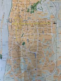 88版    湖南省会   长沙交通旅游图   差旅老旧城市交通图